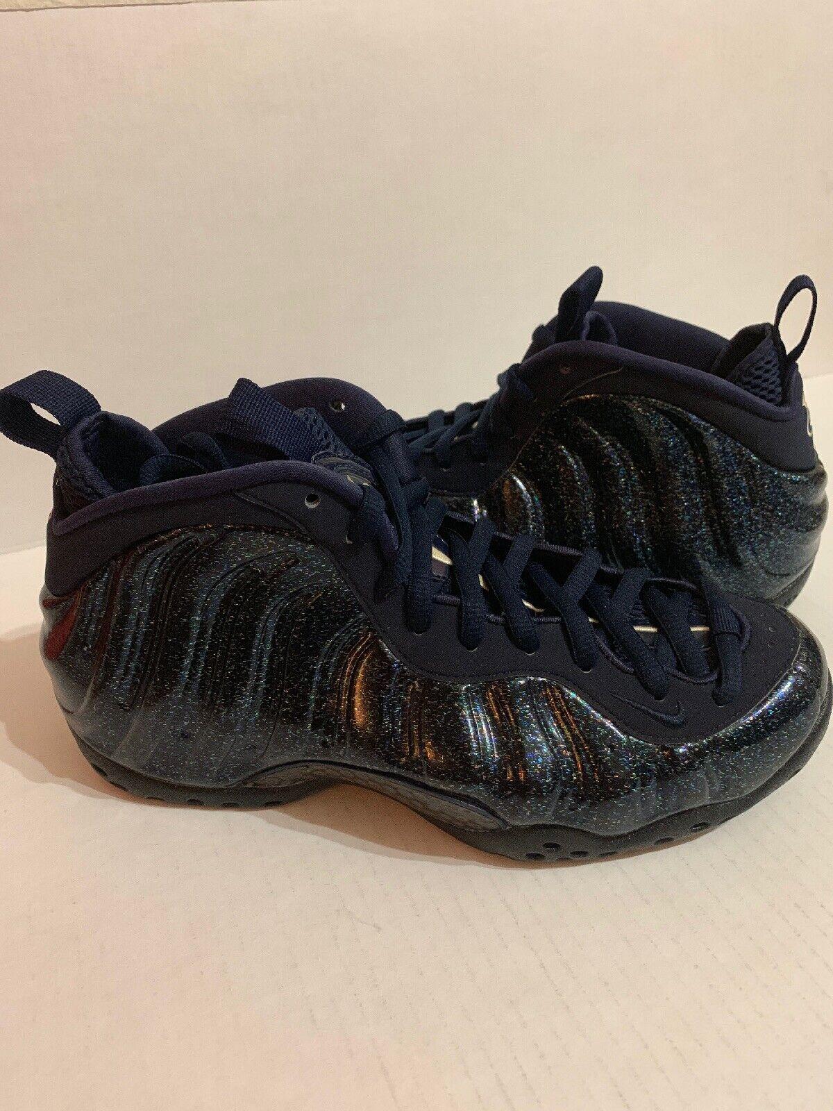NIKE WMNS AIR FOAMPOSITE ONE skor skor skor AA3963 -400 Sz 9 OBSIDIAN GLITTER ny  hög kvalitet och snabb frakt