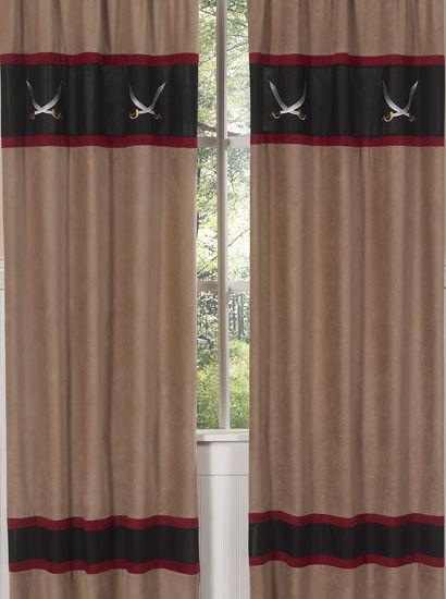 Sweet Jojo Designs Treasure Pirate Kid Window Treatment Panels Curtains Covering