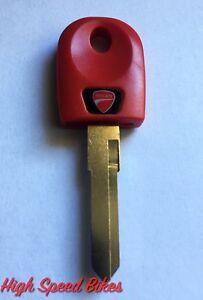 Ducati-748-749-848-999-1098-1198-u-v-m-Schluessel-Rohling-Rot-Transponderfach