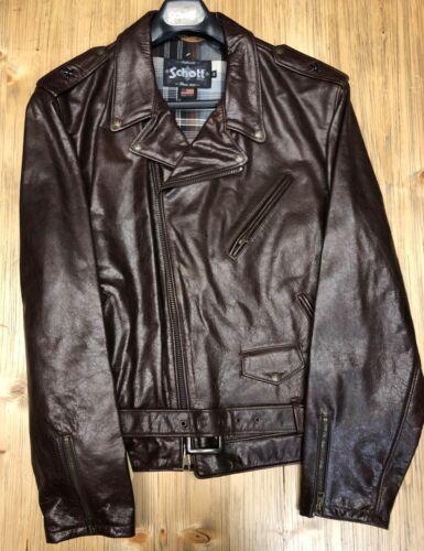 SCHOTT Manteaux en Cuir et Laine Pour Hommes Divers Tailles//Style et Couleurs F *