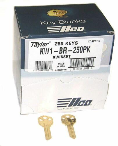 Ilco KW1-BR-250PK Key Blank 250-Pack