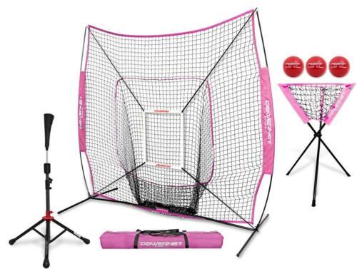 béisbol Softbol Red con Strike Zone, Tee, Caddy colores del equipo Powernet Dlx