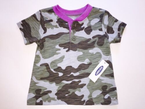 18-24 Months Boy/'s Old Navy Army Green Purple Trim Camouflage Shirt 6-12 3-6