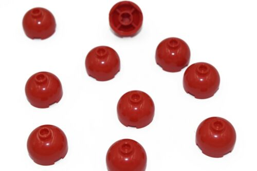 10 New LEGO Red 2x2 Round Bricks Dome Top 30367 final sphere lot blocks city moc