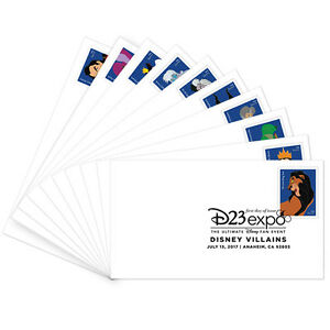 USPS-New-Disney-Villains-First-Day-Cover-set-of-10
