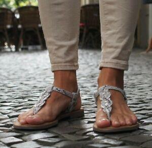 Zu Sandalette Lazamani Damensandale White Neu Sandale 372 Details Echtlederinnensohle Weiß 5qR4AL3j