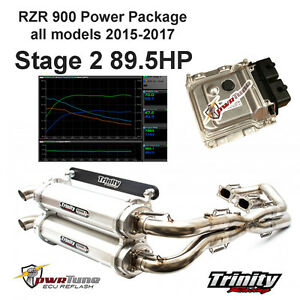 80f8d4a29e RZR 900 15-17 Stg2 Power Package  Exhaust pwrTune ECU Reflash Tuning ...