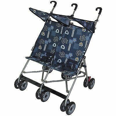 amoroso 42702 blue twin double stroller ebay. Black Bedroom Furniture Sets. Home Design Ideas