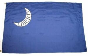 FORT-MOULTRIE-3x5-ft-Flag-LIBERTY-in-CRESCENT-MOON-South-Carolina-Print-Poly