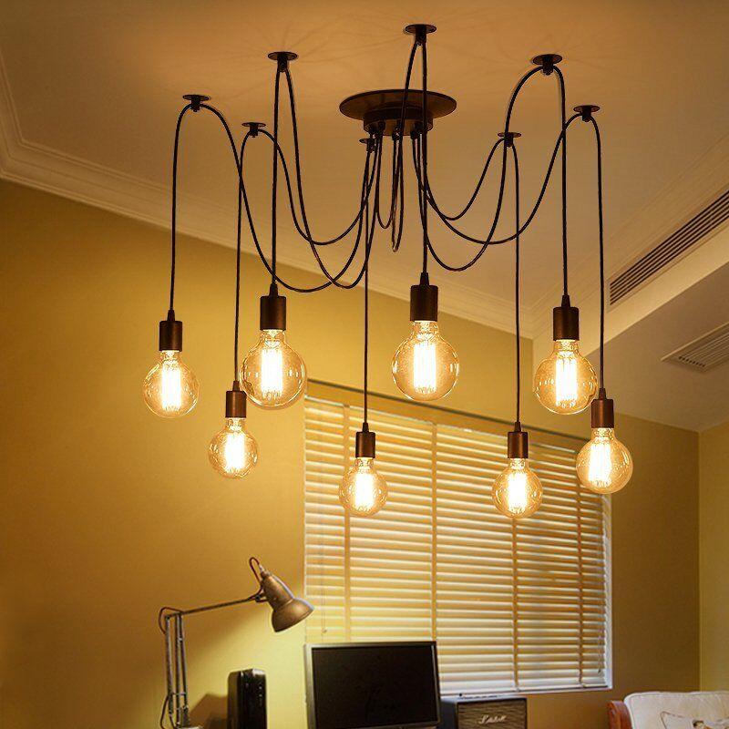 Vintage Multiple DIY Ceiling Light Adjustable Fitting ...
