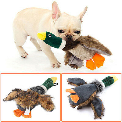 Pet Puppy Dog Chew Fetch Squeaker Squeaky Plush Sound Duck Ball Toys Funny Play