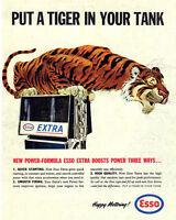 Esso Garage Tiger VINTAGE ENAMEL METAL TIN SIGN WALL PLAQUE