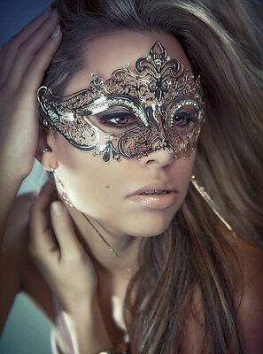 Elegant Metal Laser Cut Venetian Halloween Ball Masquerade Luxury Venetian Mask