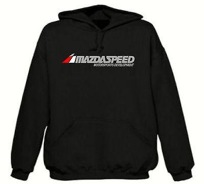 Mazda Mazdaspeed Pullover Hooded Sweatshirt Black Hoodie