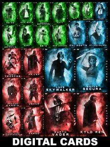 Topps-Star-Wars-Card-Trader-PLATINUM-2020-Wave-2-23-CARD-GREEN-RED-BLUE-SET