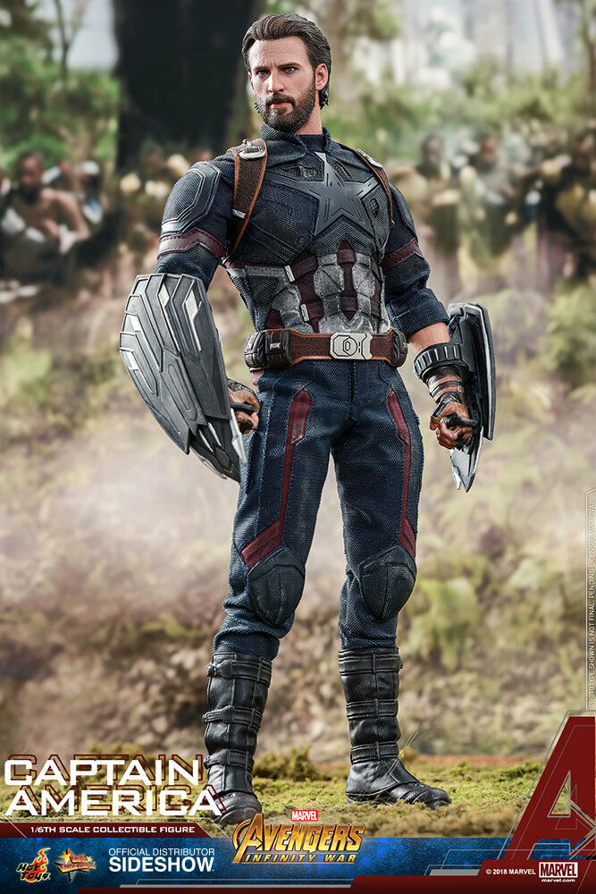 Hot Toys MMS480 Avengers: Infinity Guerra 1/6 Capitán América Figura Figura Figura Nuevo en cd2b92