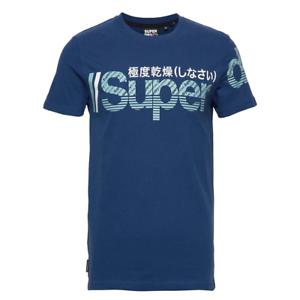 Logotipo de Superdry core Split T-Shirt Piloto Azul Medio