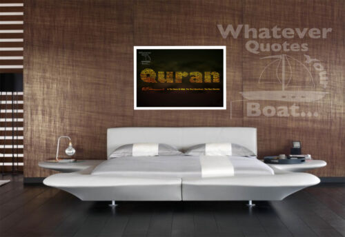 Quran Islam Allah Quote Poster Wall Art Print Picture Perfect Gift ALL SIZES