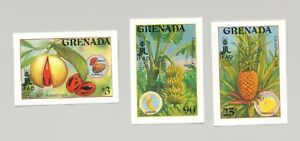 Grenada-1648-1650-Food-Fruit-Agriculture-3v-Imperf-Proofs