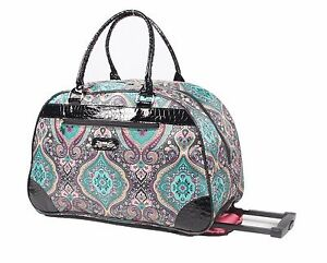 4682413be2 Image is loading NEW-Kathy-Van-Zeeland-22-inch-Wheeled-Duffel-