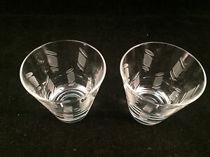 Set-of-2-Glass-Shot-Glasses-2-3-4-034-Tall-2-1-2-034-Diameter