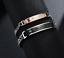 2-Bracciale-Coppia-bracelet-Uomo-Donna-ring-Fidanzati-anello-Acciaio-INCISIONI miniatura 2