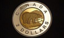 2016 Canada BRASS PLATED CORE PROOF TWO DOLLAR Coin -  VERY RARE TOONIE! - $2