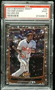2012 Bowman Draft Silver Ice #34 Xavier Avery RC Rookie PSA 9 Mint None Higher!