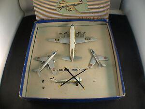 Dinky-Toys-F-60-coffret-cadeau-avions-1957-Air-France-Vickers-Mystere-boite-rare