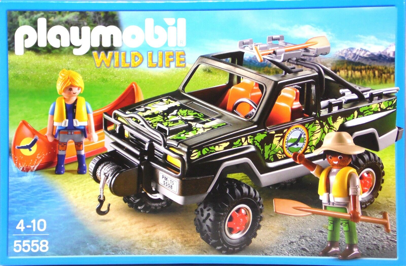 Playmobil 5558 aventure-Pickup 2 personnages Bateau Gouvernail Treuil fusil NEUF NEUF NEUF 278df9