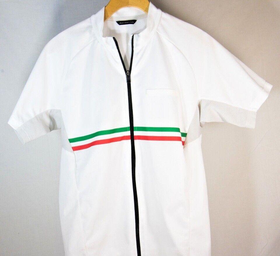 RARE - De Marchi Uomo Sleeve Italia Short Sleeve Uomo Cycling Jersey bianca – Sz S – MINT 03b13f