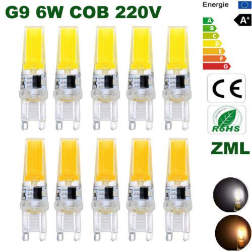 G9 Led Birne 6W COB 220V Halogenlampe Energiesparlampen   Warmweiß Weiß Dimmbar