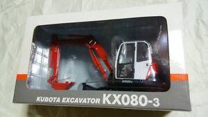 NEU-Miniatur-Kubota-1-20-Mini-Bagger-kx080-3-Bagger-Schaufel-Auto-Dole-F-S