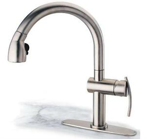 Pegasus Akpw591lfex Arko Pull Out Spray Kitchen Faucet In Brushed Nickel 650053008364 Ebay