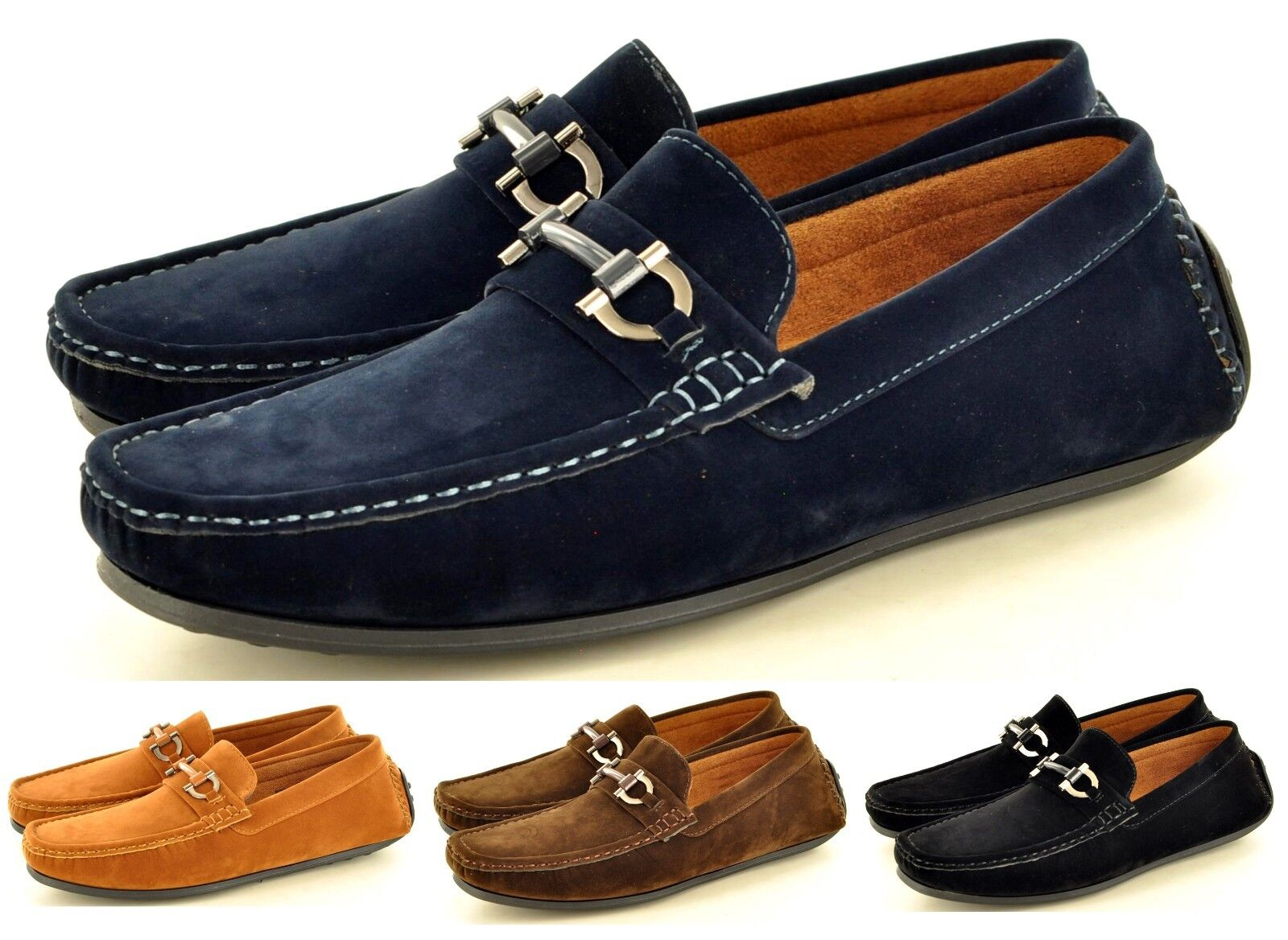 New Men's Faux Suede Casual Loafers Moccasins UK Slip on Shoes Avail. UK Moccasins Sizes 6-11 d30ac5