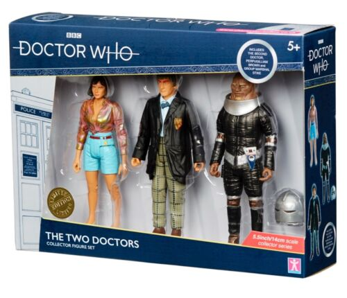 B /& M Doctor Dr Who The Two Doctors Collector Figure Set *BRAND NEW*