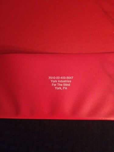 """NEW LOT OF 4 Red 1/"""" 3 Ring Binders Firm Single Pocket Inside"""