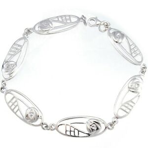 Image is loading Sterling-Silver-Charles-Rennie-Mackintosh-Bracelet-amp-Gift -