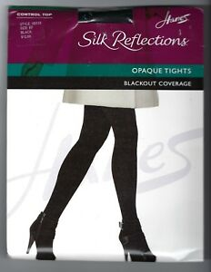 bfed62689c3 Image is loading Hanes-Silk-Reflections-Blackout-Control-Top-Pantyhose-EF-