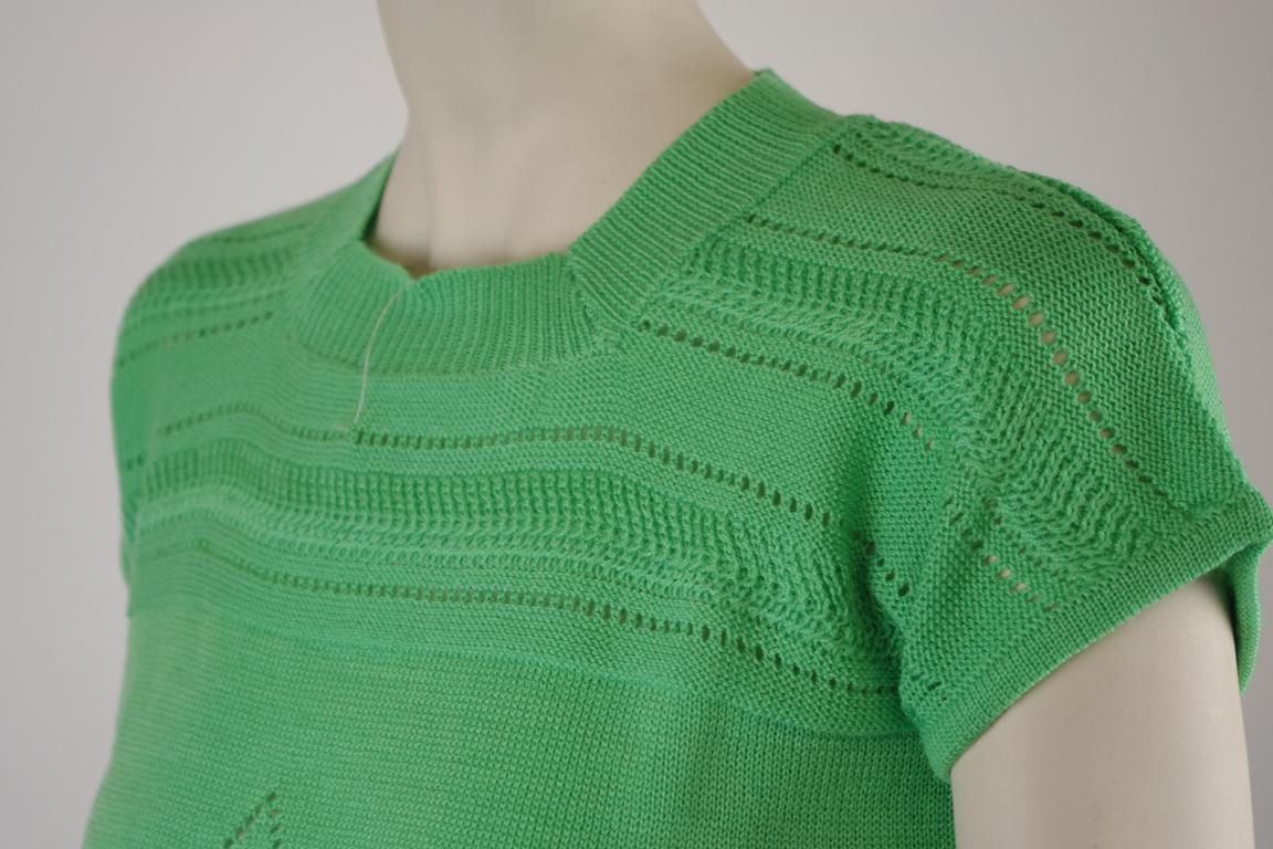 Damen Strick Shirt True VINTAGE grün NOS 80er ALTLAGERBESTAND OVP 80s shirt