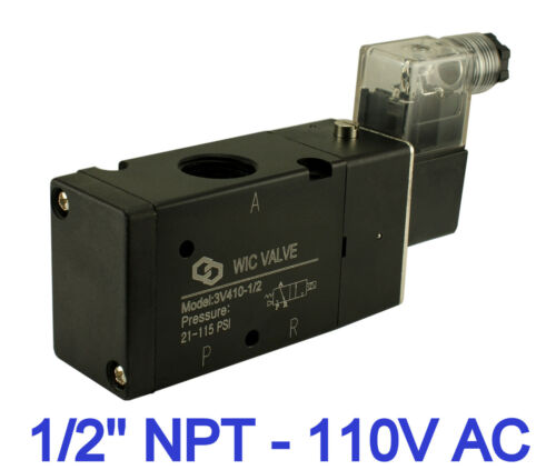 1//2 Inch Pneumatic 3 Way Electric Directional Control Air Solenoid Valve 110V AC