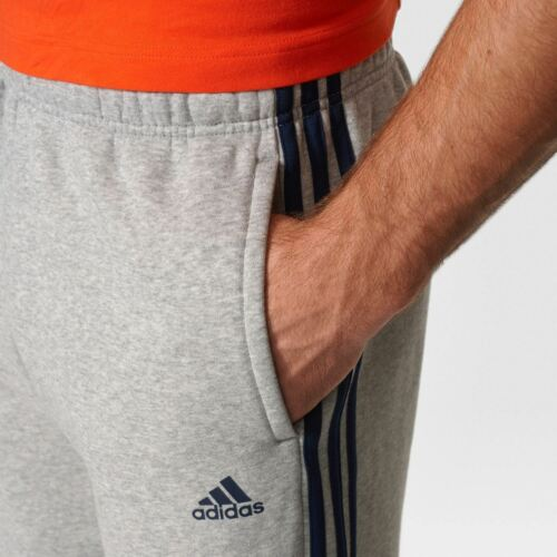 adidas Essentials 3-Stripes Fleece Mens Pants S96961~Originals~Sizes SML to 3XL