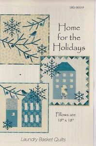 Home-for-the-Holidays-applique-amp-pieced-pillows-PATTERN-Laundry-Basket
