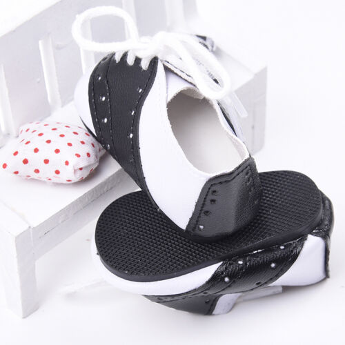 "Fashion Black /& White Saddle Shoes made for 18/"" Doll Clothes"