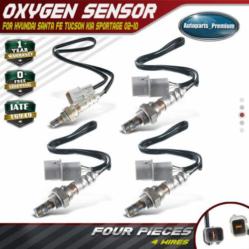 4x Oxygen Sensor fit Kia Optima Sportage Hyundai Santa Fe Upstream /& Downstream