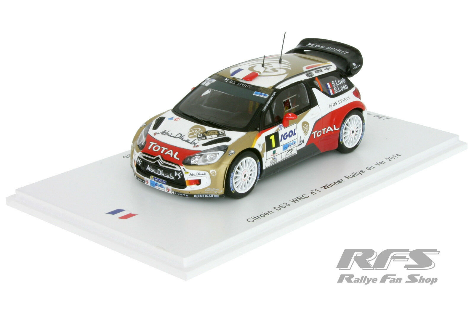 CITROEN ds3 wrc-Loeb Loeb-rallye tu  var 2014 - 1 43 spark sf081  limite acheter
