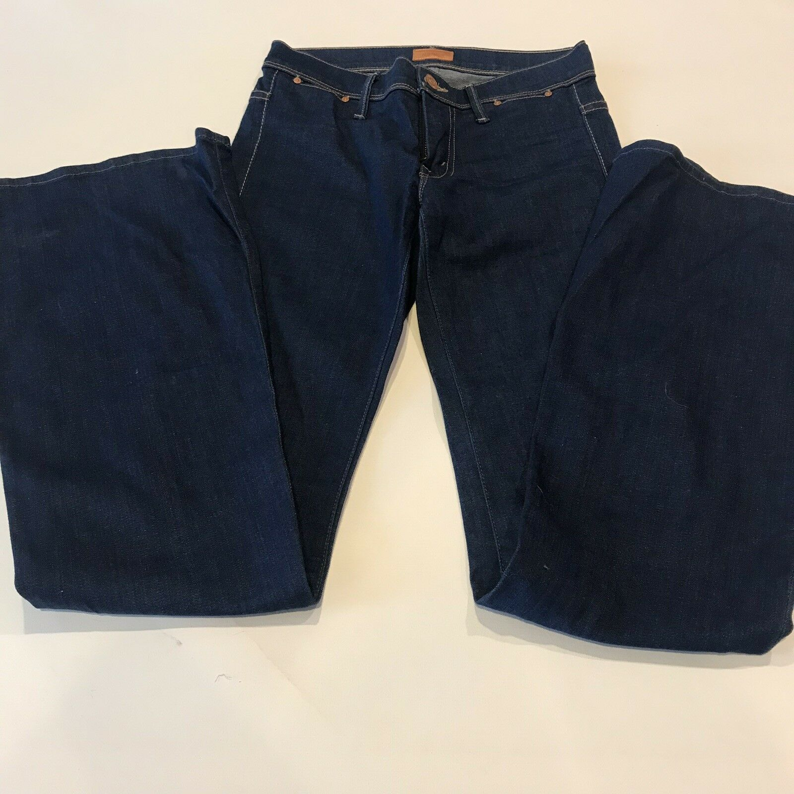 Mother Womens Jeans 24 The Curfew Dark Wash Flare Bells bluee Skies and Promises