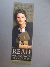 BOOKMARK American Library Promo 2004 Read ORLANDO BLOOM Actor Photograph