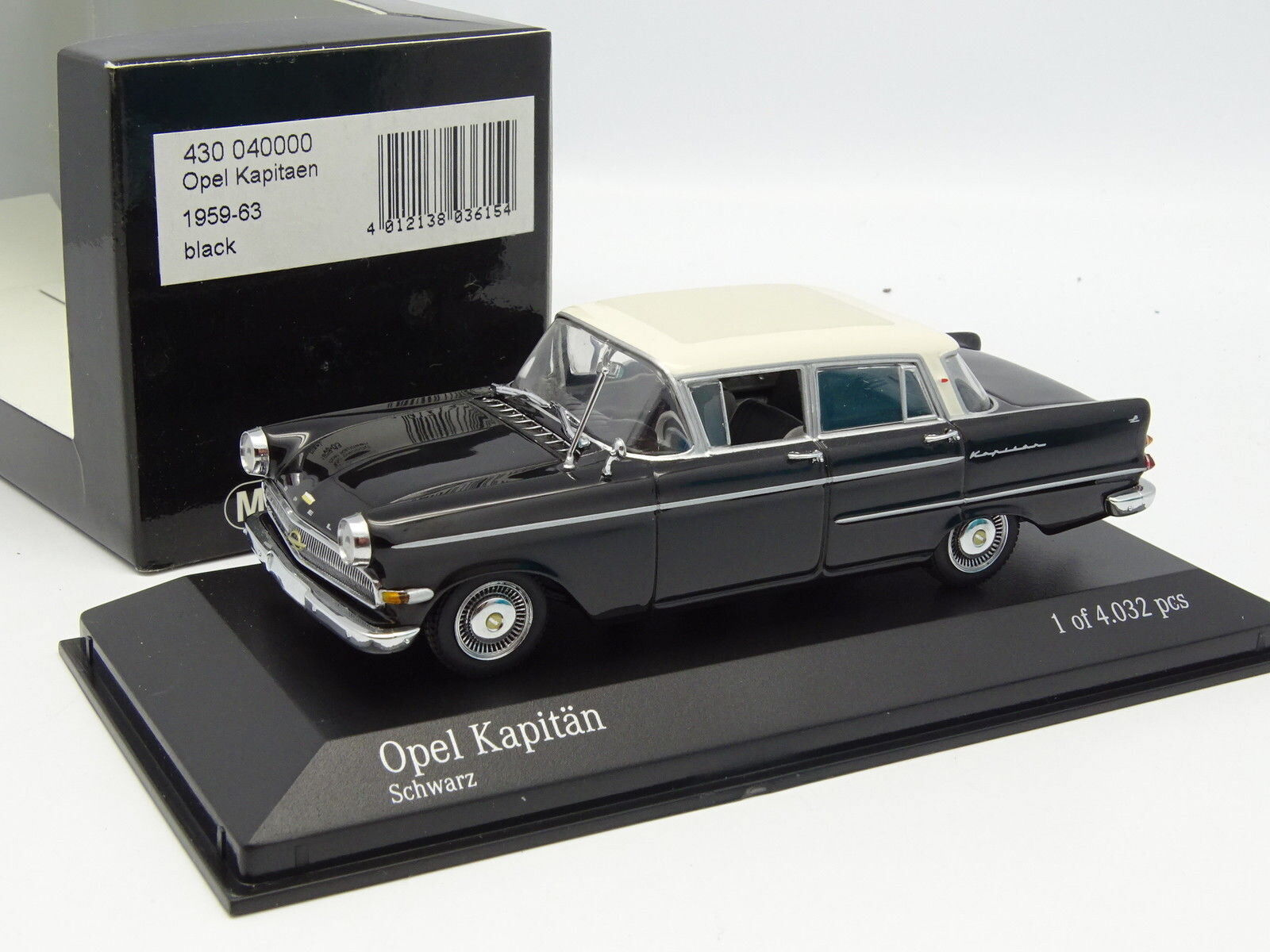 Minichamps 1 43 - Opel Kapitan 1959 blacke