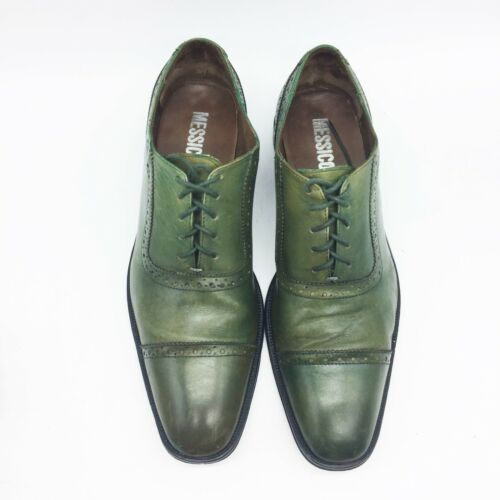 MESSICO Derby 11.5M Green Leather Mens Shoes